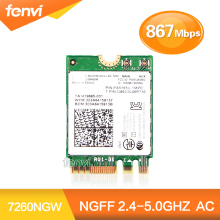 Новый Intel Dual band 7260 7260NGW NGFF Wireless-AC 2×2 802.11ac 867 Мбит Wi-Fi + Bluetooth BT 4.0 Wireless Wlan M.2 Карты