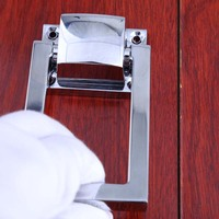 Modern Simple Unfold Install Drop Rings Silver Wooden Chair Sofa Back Pulls Knobs Chrome Wooden Door
