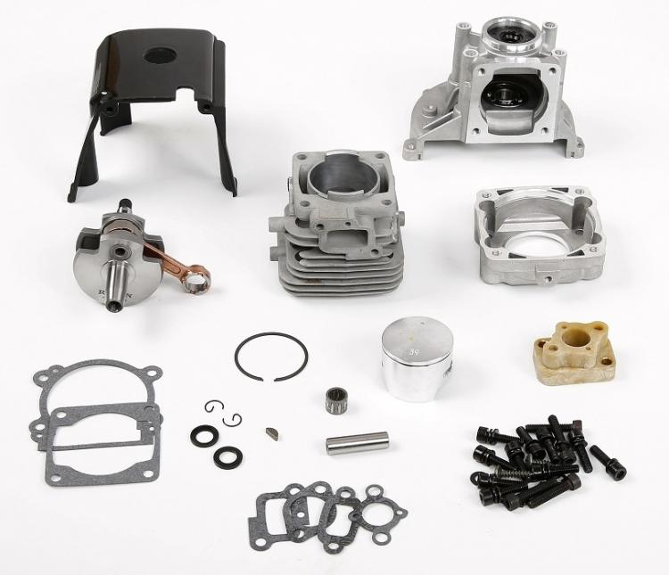 HPI baja Losi Gas Engine 23cc 26cc 29cc 30.5cc up to 36cc Conversion Kit clutch cover crankshaft cylinder piston flywheel 27 5cc 2t 4 bolt gasoline engine walbro 668 carburetor ngk spark plug 7000 light clutch fits hpi baja 5b losi 5ive t redcat