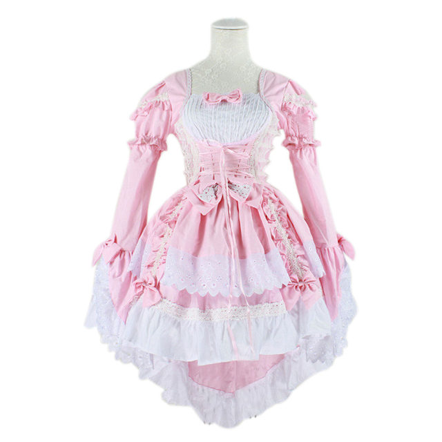 Hot Sale Anime Fantasy Maid Cosplay Costume Lolita Dress Halloween Performance For Women Disfraces H9