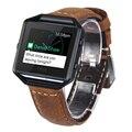 Blaze V-MORO Couro Genuíno Watch Band Para Fitbit Banda Substituição + Moldura de Metal Pulseira para Fitbit Blaze