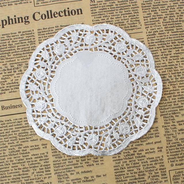 Arte de papel y confección Doilies ronda patrón de flores de plata ...