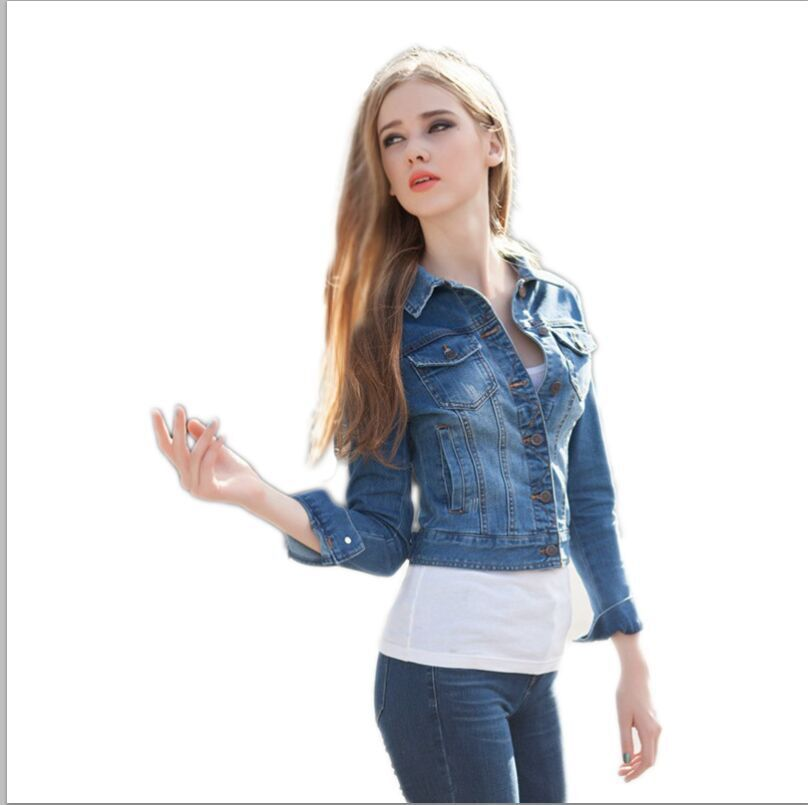 Aliexpress.com : Buy Women Jean Jacket denim 2015 Spring Autumn ...