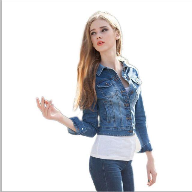 Aliexpress.com : Buy Women Jean Jacket denim 2015 Spring ...