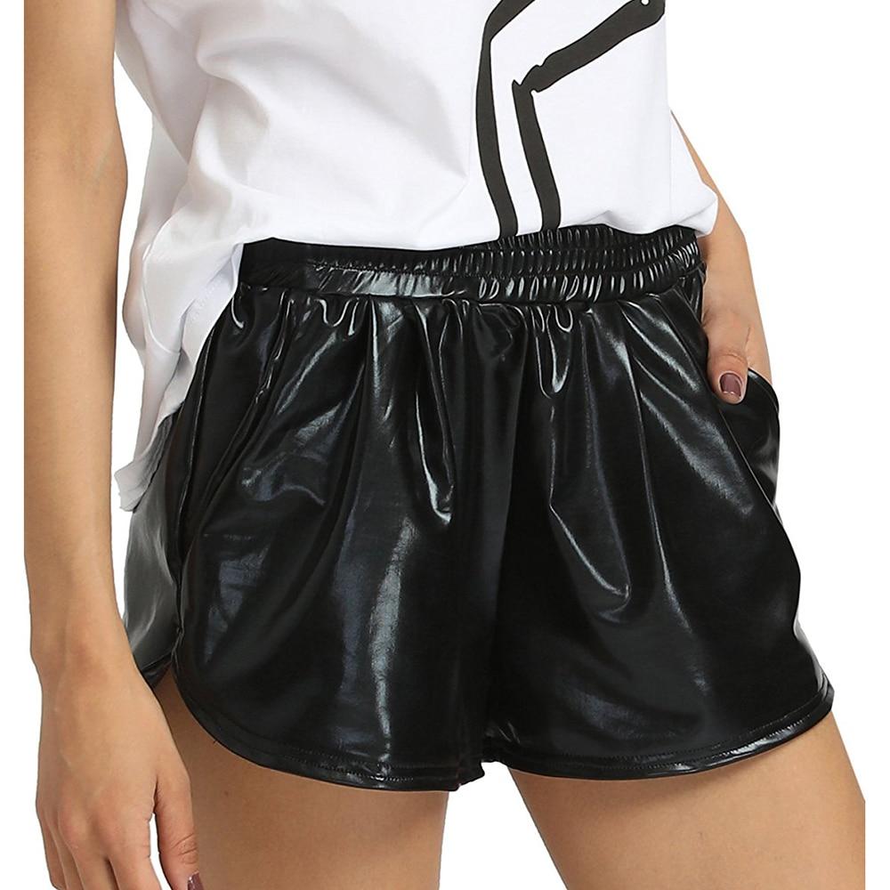 Jazz Shorts Shinny Metallic Hip Hop Shorts Dance Shorts Dancewear Bling Clubwear Pole Dance Shorts Rave Holographic Clothes