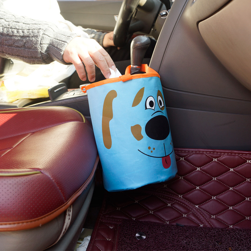 Car Trash Bin Auto Organizer Storage Box Car Trash Can Rubbish Garbage Holder Seat Back Bag Bucket Accessories