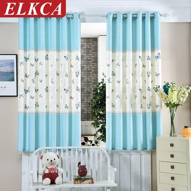 nieuwe collectie blauwe vlinder korte gordijnen voor bay gordijnen voor baby slaapkamer mediterrane stijl voor kinderkamer
