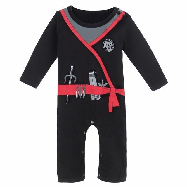 74ba68808f3b Baby Boy Ninja Costume Romper Cute Infant Jumpsuit Party Playsuit ...