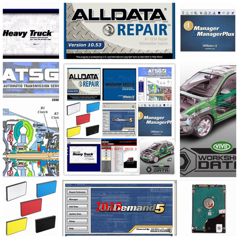 2018 Alldata 10.53+mitchell on demand 2015 Alldata mitchell on demand Software +ElsaWin+Vivid workshop+atsg 26 in 1tb hdd usb3.0 alldata and mitchell software alldata auto repair software mitchell ondemand 2015 vivid workshop data atsg elsawin 49in 1tb hdd