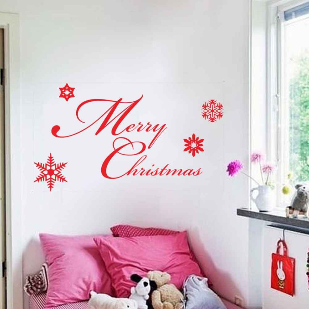 online get cheap snowflake wall decals aliexpress com alibaba group xmas36 merry christmas white red different snowflake removable wall decals waterproofing pvc wall sticker new year party decor