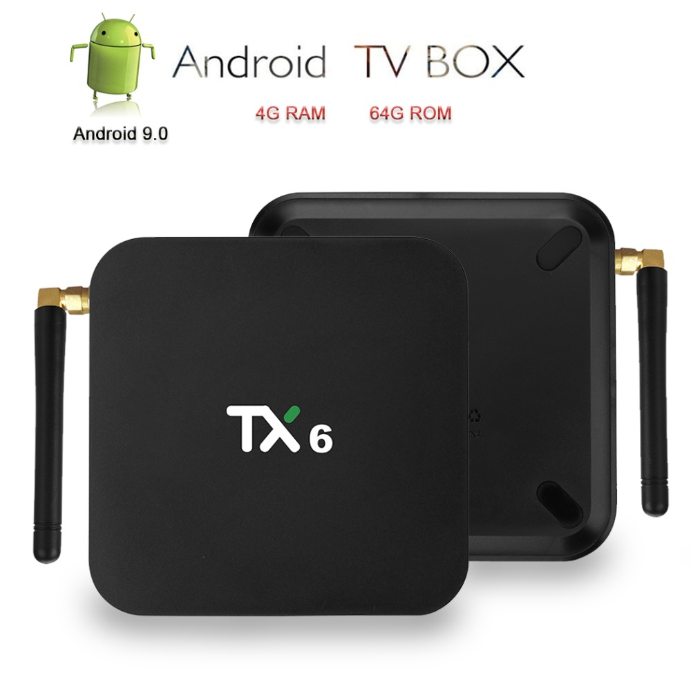 TX6 Android 9 0 TV Box 4K IPTV Smart Box Allwinner H6 Set Top Box With