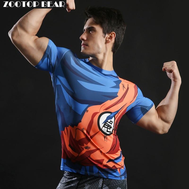 Dragon Ball T shirt 3D Uomini Tshits Anime T-Shirt Comics Compressione magliette e camicette goku ball z tee fashion 2017 vegeta camiseta zootop orso