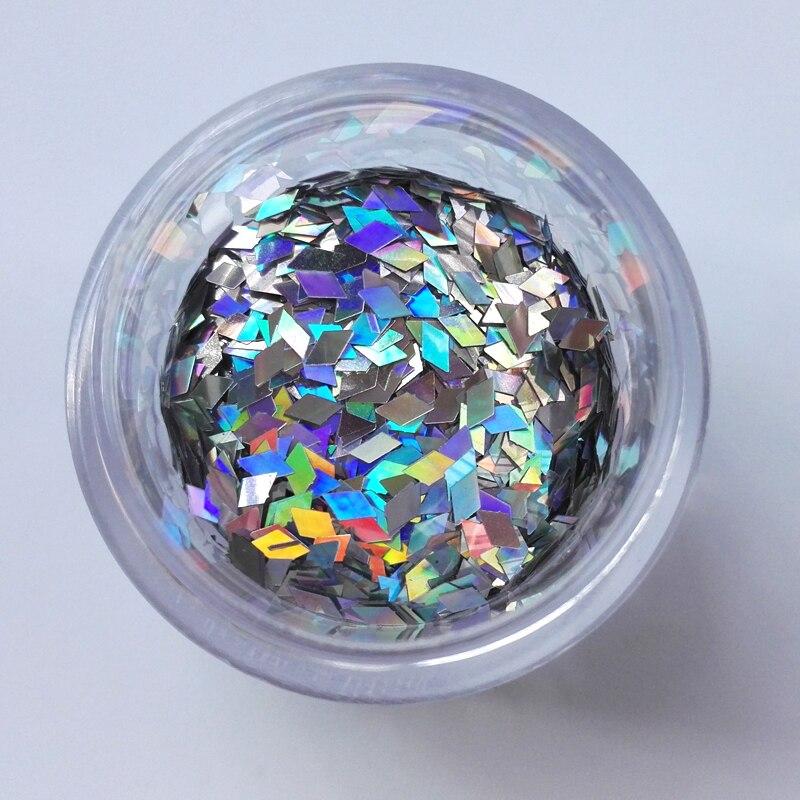 Holographic Nail Glitter 1 Caja Diamond Nails Glitter Manicure - Arte de uñas - foto 2