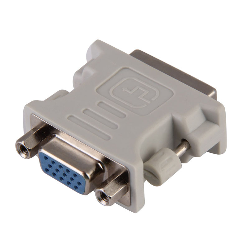 DVI DVI-I Male 24+5 Pin to VGA Female Video Converter Adapter M/F LCD HDTV Best Price dvi 24 5 male to component video female adapter