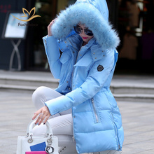 2016 Winter Candy Colors Jackets Women Vogue Designer Winter Female Casual Plus Size Long Sleeve Warm Long Slim Parkas Coats