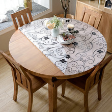 Customize pvc round tablecloth Waterproof table mat Insulation Party decoration wooden Protection cover placemat