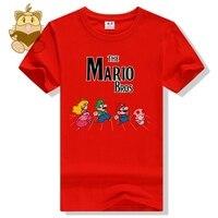 Classic game Super mario bros karakter MARIO LUIGI todd Perzik spel t-shirt MARIO fans t-shirts diverse kleuren katoen ac465