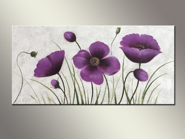 Easy Flower Paintings Without Frame