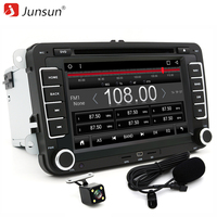 Junsun 7 Inch 2 Din Android 6 0 Car DVD Player 1024 600 For VW Passat