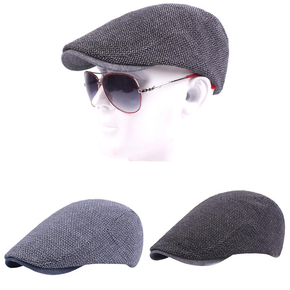 Cotton Men Women Adjustable Newsboy Cabbie Cap Autumn Winter Fashion Design Models Berets Flat Caps Gentleman Newsboy Hat