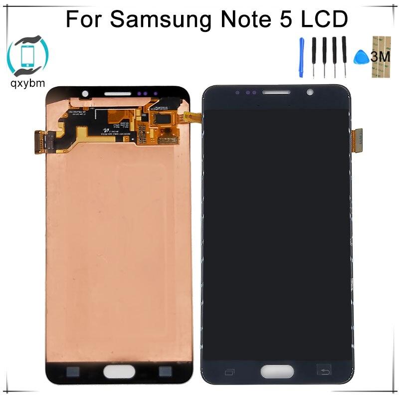 Супер OLED для Samsung Note 5 N920 N920A N920V N920F N920P N920T ЖК дисплей Дисплей Сенсорный экран планшета Ассамблеи с Stylus Flex