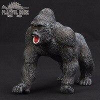 El yapımı Sertifikalı Ürünler King Kong Modeli Yumuşak PVC Sruffed 3D Anime Hayvanlar Eylem Orang Kid Figma Oyuncak Çocuklar Için hediye