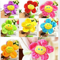 Retail stuffed plush plants toys Curtain clip sunflower Plush toys 8 colors Children's birthday gift 30cm