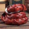 Fashion Casual Women Braided Leather Belts High Quality Entry Luxury Belts For Women Jeans Belt Width 2.8CM Size 28-34