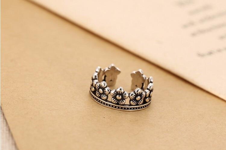 Høy kvalitet retro stil 925 sterling sølv små blomster damer - Fine smykker - Bilde 5