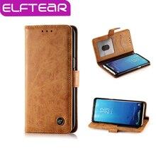 ELFTEAR Тонкий Кожаный Флип Телефон Случае для Samsung Galaxy S8 Магнитный Стенд Телефон Обложка С Держателем Карты