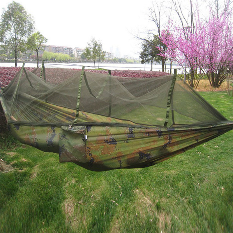 Portable Camping Hammock Hiking Sleeping Hanging Bed Mosquito Net Bed Tent hammock for Outdoor Travel 2017 portable nylon garden outdoor camping travel furniture mesh hammock swing sleeping bed nylon hang mesh net