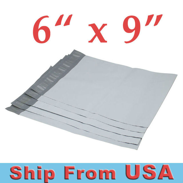 Ups Free Shipping1000pcs 6 X9 Poly Mailers Envelopes Shipping Bags White Plastic Self Seal