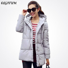 Hot sale 2018 new winter women down long sleeve cotton jacket slim parkas winter coat LML090