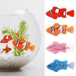Активированный электронный рыба батарея питание электронные игрушка для домашних питомцев роботы Домашние животные милые Веселая рыбка