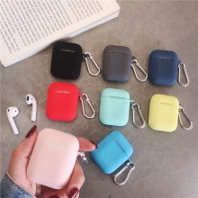 Liquid silicone earphone casing for AirPods Anti-dirt APPLE airpods case cover pink black dark blue yellow red