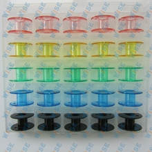 Box of 25 Color Bobbins Brother Babylock Singer Janome elna Kenmore #2518P