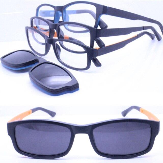 Atacado TR90 óculos de aro completo com megnatic P010 clip on lente  polarizada óculos de sol a42d841996
