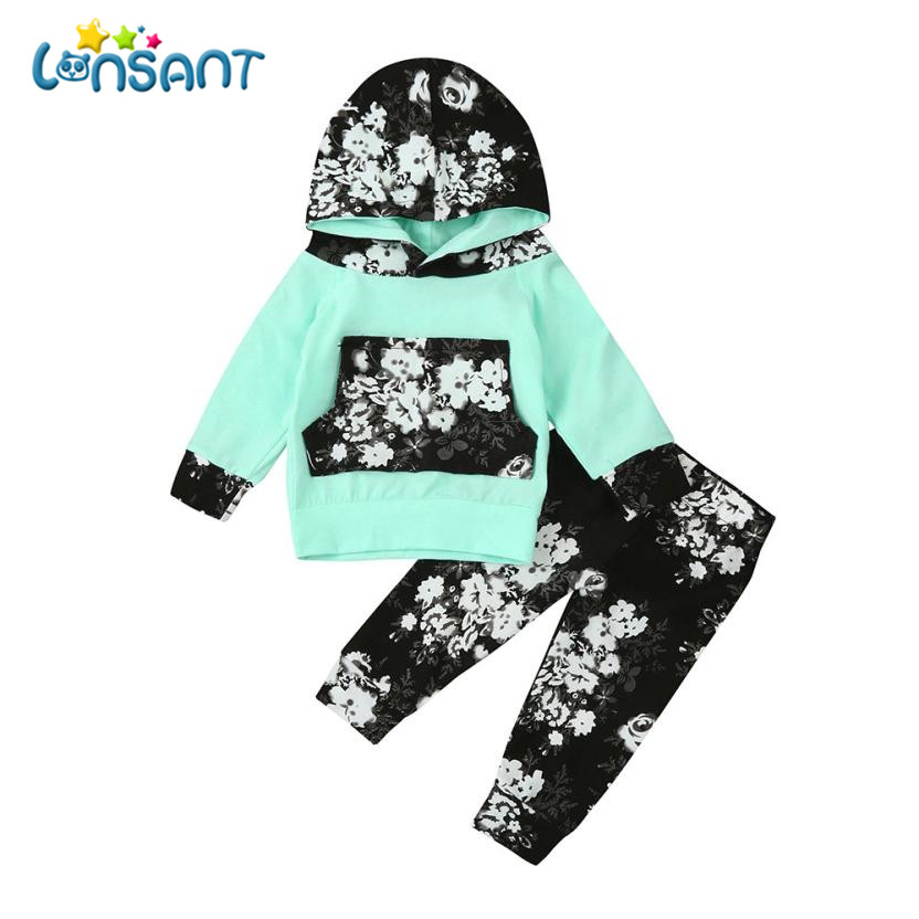 LONSANT Clothing Sets Roupas Infantis Menina Fashion Long Sleeve Suit For Boy 2018 Cute Unisex Children Clothes Dropshipping De7