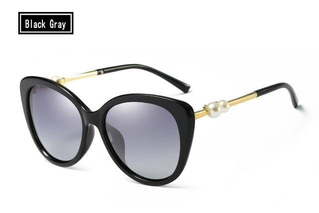 ac8c989a37 ELITERA Fashion Butterfly Pearl Sunglasses Women Mirror Polarized UV400 Sun  Glasses Brand Designer With Original Box