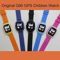 SOS Relógio GPS Q90 WIFI Posicionamento crianças Childre bebê Inteligente Chamada localização Localizador Rastreador Kid Safe Anti Perdido Monitor PK Q8080 Q50