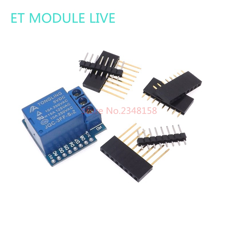 Relay Module  For D1 MINI 5V hight level trigger One 1 Channel Relay Module interface Board Shield For ESP32 MINI KIT 8 channel 5a high level trigger solid state relay module board 3 32v power supply and trigger voltage