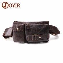 JOYIR Genuine Leather Waist Bag Multi-function Men Pack Funny Belt For Phone Pouch Bolso Vintage Chest