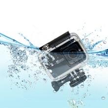 цена на Diving Waterproof Case for  Xiaomi YI Action Camera Housing Underwater Cover for Xiaoyi II  4K Case Xiao mi YI 4K 2 Accessories