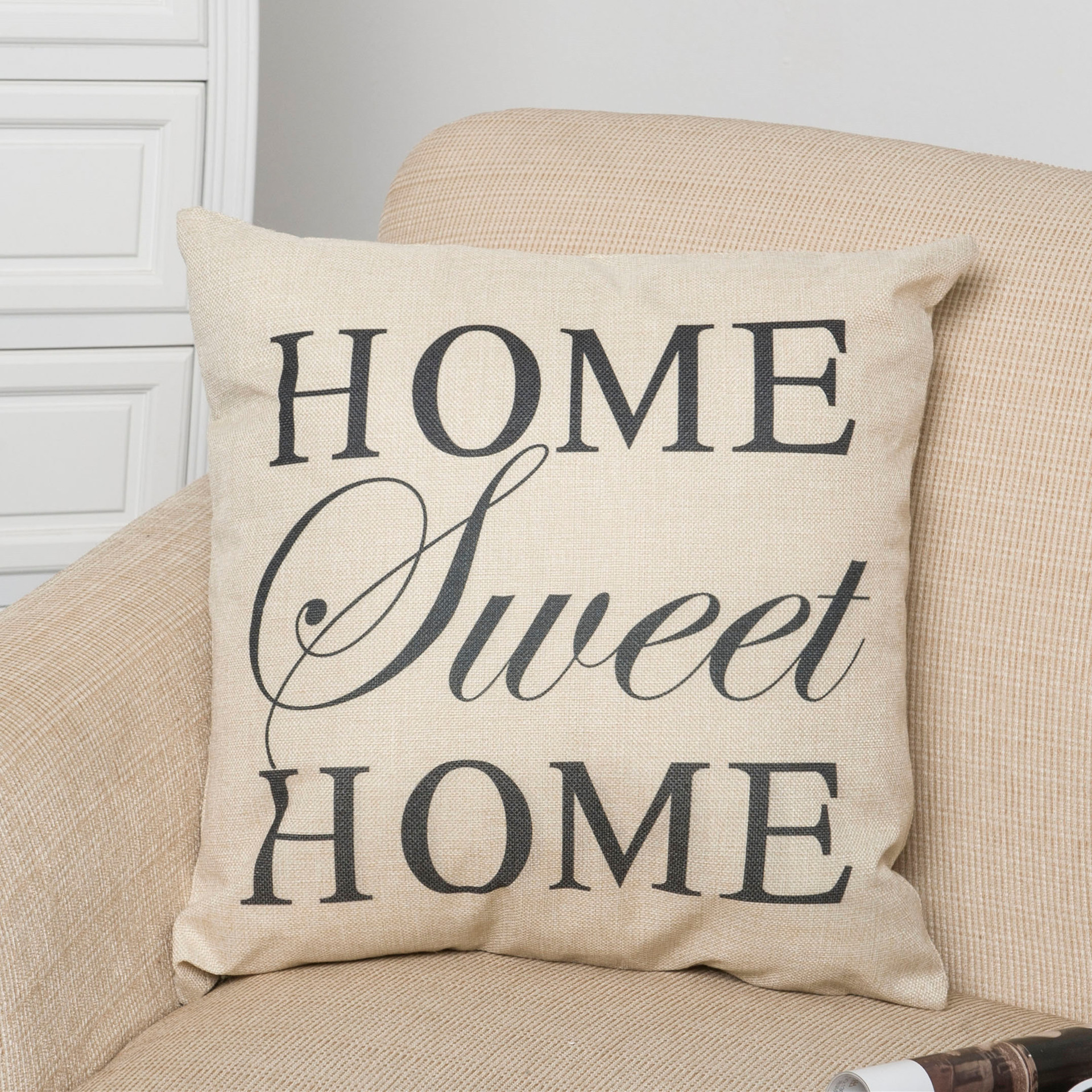 Cotton Linen Letter SWEET Printed Decorative Pillow Cushion Cover Sofa Car Seat Cushion for Children Gift Home Decorative ...
