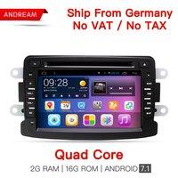 Android7 1 Quad Core 2G RAM Car DVD RADIO Stereo GPS Navigation For Dacia Sandero Duster