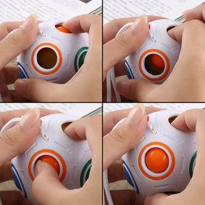 Image 4 - קסם כדור קשת כדורי קסם קוביית כדור נגד לחץ קשת חידות כדורי צעצועים חינוכיים לילדים