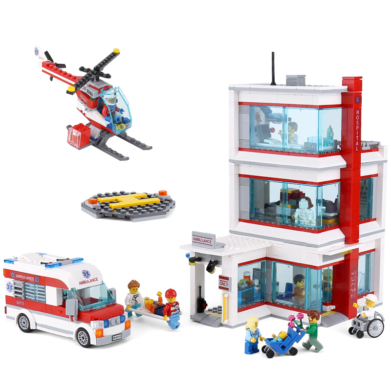 Lepin 02113 Kids Toys Compatible With Legoing 60204 City Hospital Set Building Blocks Bricks Funny Kids Toys Christmas Gifts цена