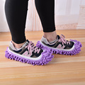 100 par/lote Moda Oferta Especial de Poliéster Sólidos Sapatos Capa de Poeira Cleaner Casa de Banho Pavimento Limpeza Mop Chinelo Preguiçoso