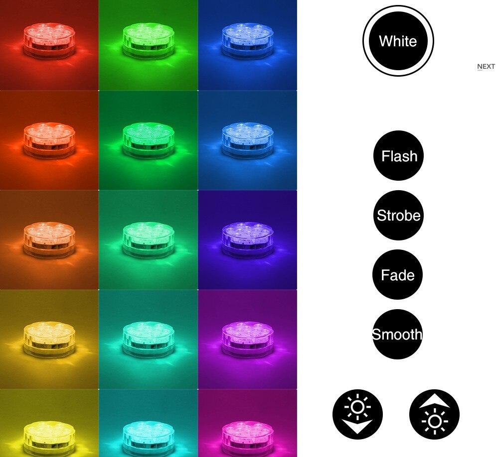 1pc LED multi couleur submersible étanche base de vase de fête de - Éclairage festif - Photo 2