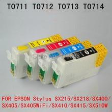 T0715 T0711 многоразового картридж для EPSON стилус SX600FW SX610FW BX600FW BX610FW офис B40W BX300F BX300FW BX310FN принтер